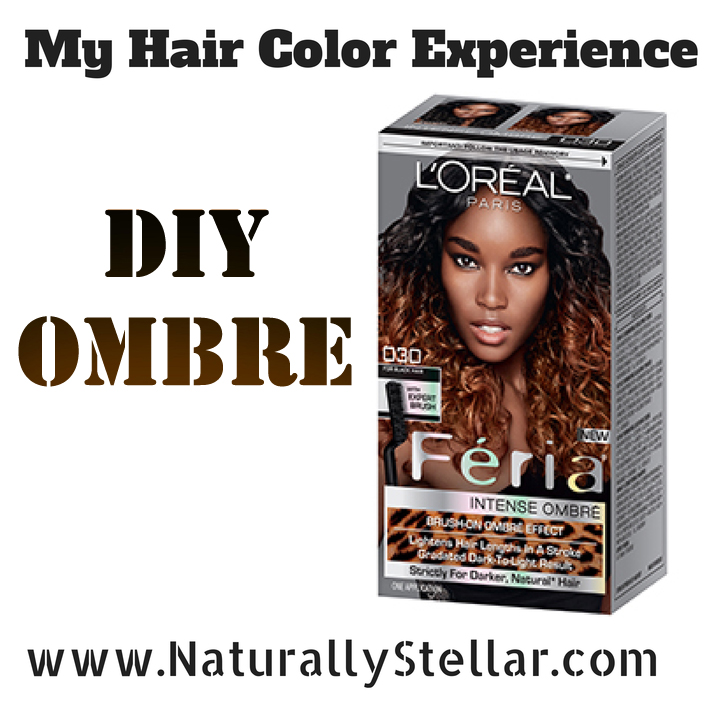 Natural hair my diy ombre hair color experience naturally stellar solutioingenieria Image collections
