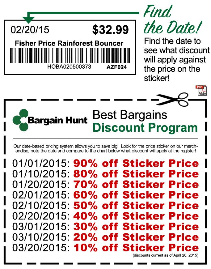 Bargain Hunt Prices