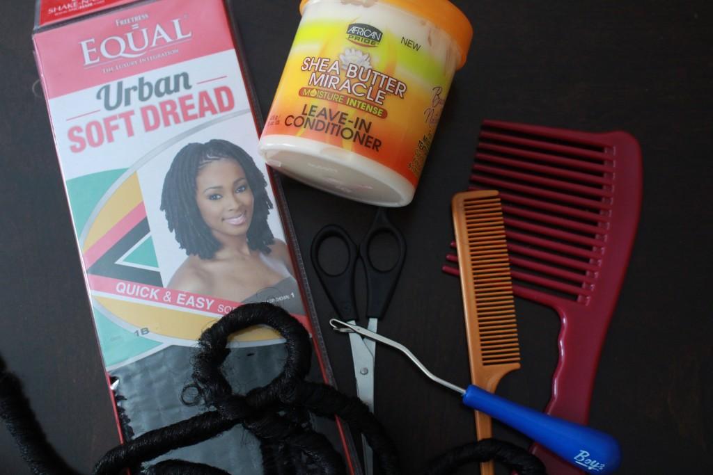 Crochet Braids Tutorial using Soft Dread Hair | Naturally Stellar