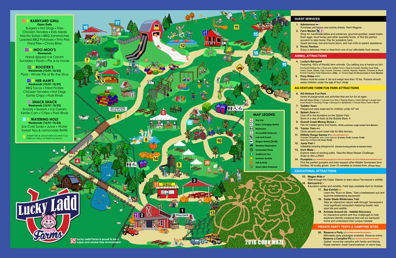 Lucky Ladd Farms Map and Corn Maze | Naturally Stellar