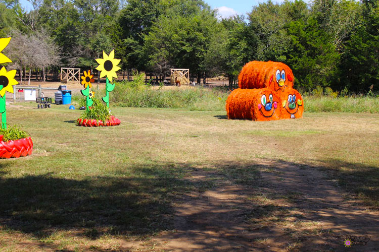 Lucky Ladd Farms cut outs and hay bales | Naturally Stellar