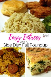 Easy Entrees and A Side Dish Fall Roundup | Naturally Stellar