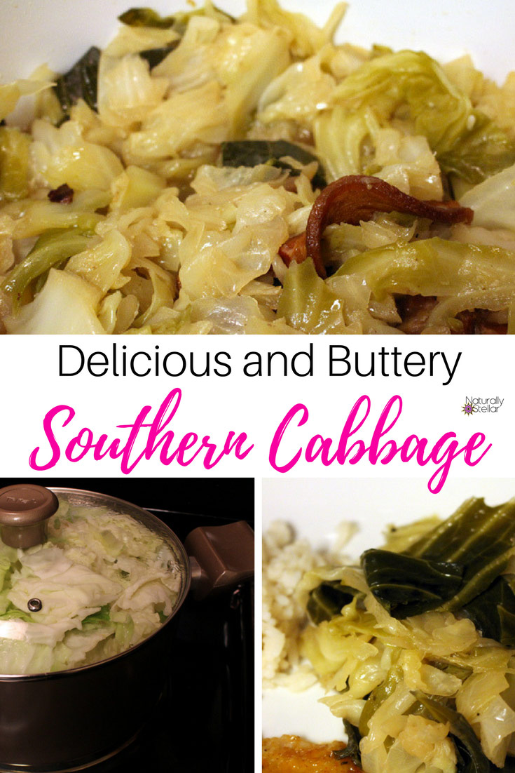 Delicious Buttery Southern Cabbage | Naturally Stellar