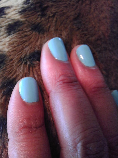 Blue Away, Sally Hansen, Nail Art, Naturally Stellar, Beauty, Manicure, Moody Manicure, Nail Polish