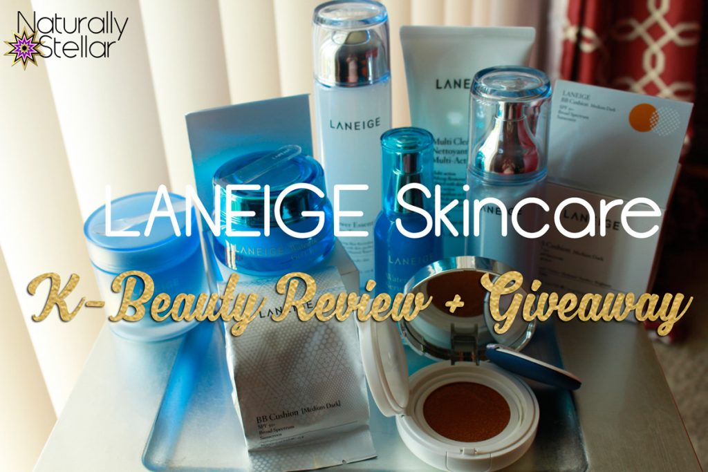 LANEIGE Skincare K Beauty Review + Giveaway | Naturally Stellar