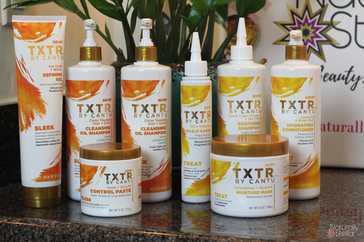 Cantu Sleek and Treat TXTR Line   Naturally Stellar