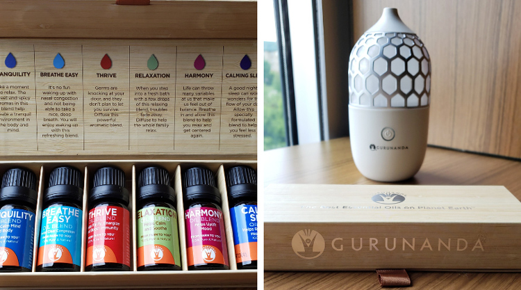 Gurunada Essential Oils & Diffuser | Naturally Stellar