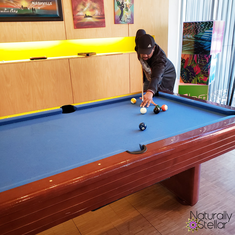 Shooting Pool - Aloft Franklin Hotel | Naturally Stellar